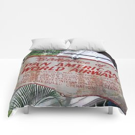 Historic Airlines Sign Comforters