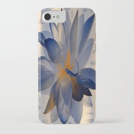 Midnight Blue Polka Dot Floral Abstract iPhone Case