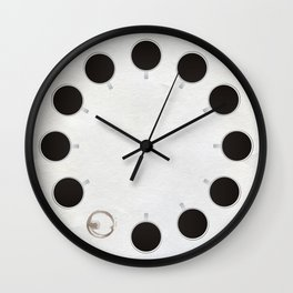 Circle of Coffee Wall Clock