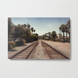 Rail Gazing Santa Barbara Metal Print
