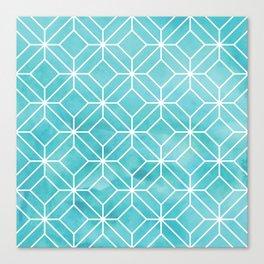 Geometric Crystals: Sea Glass Canvas Print