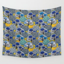 Trees in Gold Wall Tapestry