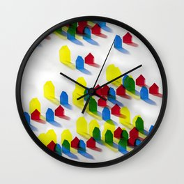 Village of Colors Wall Clock