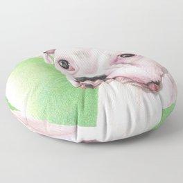 The White Boxer Floor Pillow