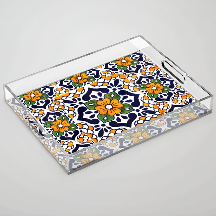 talavera mexican tile_4 Acrylic Tray