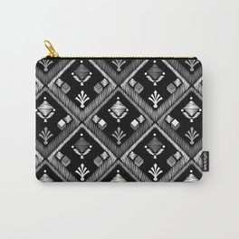 Abstract ethnic ornament. Black background 3. Carry-All Pouch