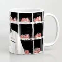 "the big lebowski Mugs featuring The Big Lebowski ""Saddam"" by Gregory Nordquist"