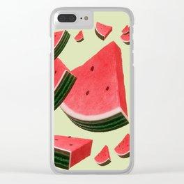 Retro Watermelon Clear iPhone Case