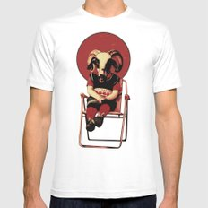 SIT TIGHT Mens Fitted Tee White MEDIUM