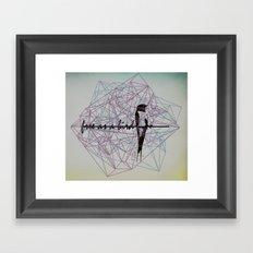 free as a bird Framed Art Print