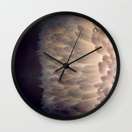 Soft light through the feathers Wall Clock