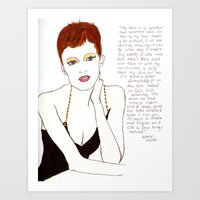 karen hallion Art Prints featuring Karen by Belle Katie Grace