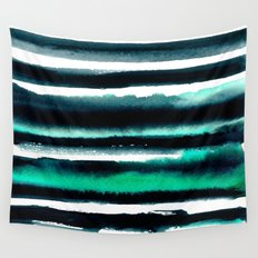 Abstract green and black painting Wall Tapestry