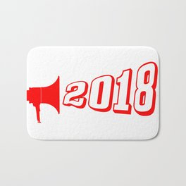 Red 2018 Megaphone Bath Mat