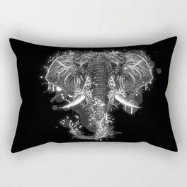 Elephant head drawing Rectangular Pillow