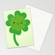 Kawaii Lucky Four Leaf Clover Stationery Cards