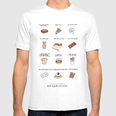Foods of Parks and Rec MEDIUM White Mens Fitted Tee