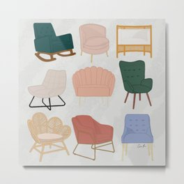 Chairs You'll Love - Unique and Colorful Accent Chairs Metal Print