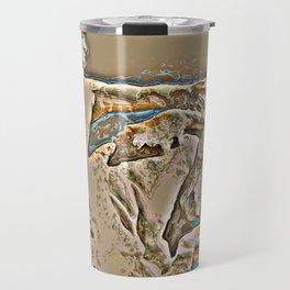 Bative American Crazy Horse Rendering Travel Mug