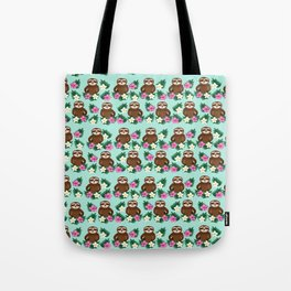 Sloth and Hibiscus Tote Bag