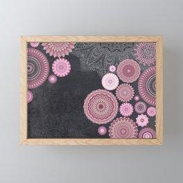 FESTIVAL FLOW - PINK GREY Framed Mini Art Print