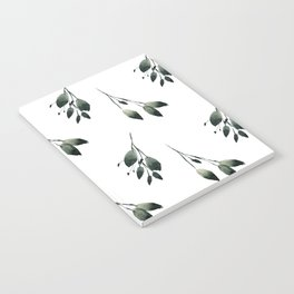 Winter Leaf Pattern Notebook