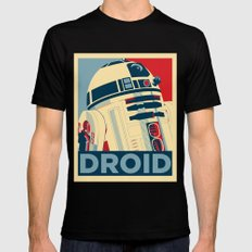 Droid X-LARGE Black Mens Fitted Tee