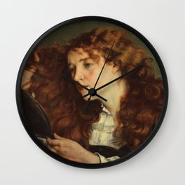 Gustave Courbet - Portrait of Jo, the Beautiful Irish Girl Wall Clock