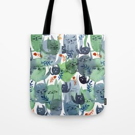 A Quiet Cacophony of Cats Tote Bag