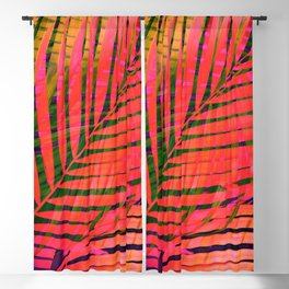 COLORFUL TROPICAL LEAVES no4B Blackout Curtain
