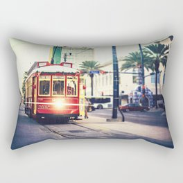 New Orleans Streetcar Rectangular Pillow