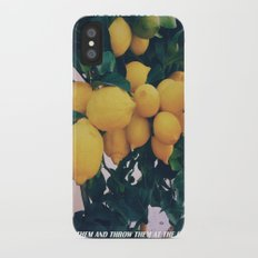 WHEN LIFE GIVES YOU LEMONS Slim Case iPhone X