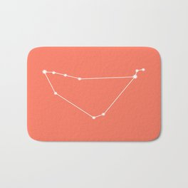 Capricorn Zodiac Constellation - Coral Red Bath Mat