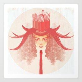 Crown Ruby Art Print
