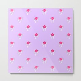 Holy orchid pattern Metal Print