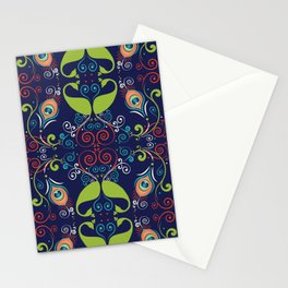 Peacock Nouveau Stationery Cards