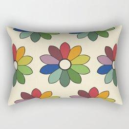 Flower pattern based on James Ward's Chromatic Circle Rectangular Pillow