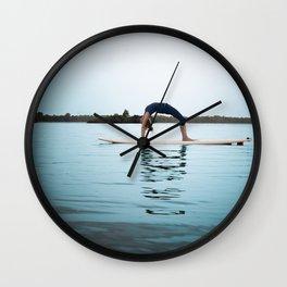 SUP Yoga Wall Clock