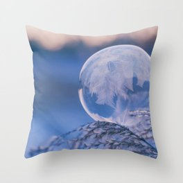 A Single Snowflake (Color) Throw Pillow