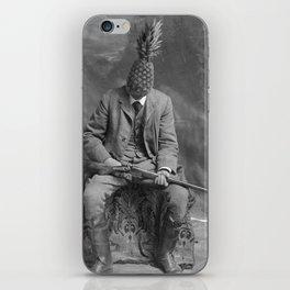Mr. Pineapple with shotgun. 1904. iPhone Skin