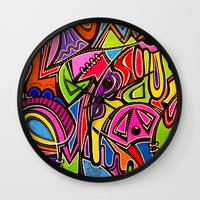 titan Wall Clocks featuring Titan by Cathey Ambush