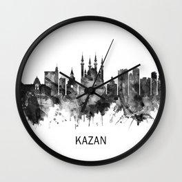 Kazan Russia Skyline BW Wall Clock