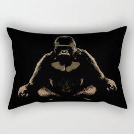 Ape Meditating Rectangular Pillow