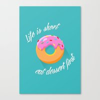 dessert Canvas Prints featuring Dessert by ministryofpixel