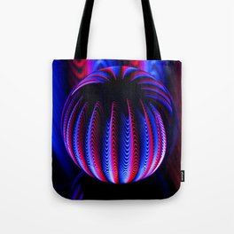 Blue and red in the glass ball. Tote Bag