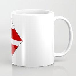 Washington DC District of Columbia Map with Flag Coffee Mug