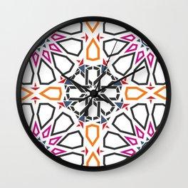 Moroccan Mosaic Colorful Wall Clock