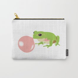 Bubble Gum Frog Blowing Bubble Carry-All Pouch