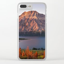 Waterton Sunrise Clear iPhone Case
