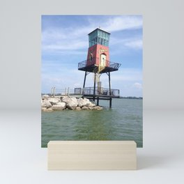 """Lake Erie Causeway, Sandusky, Ohio"" photography by Willowcatdesigns Mini Art Print"